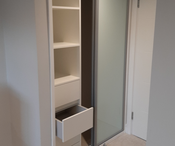 Small Wardrobe Interior With Drawers
