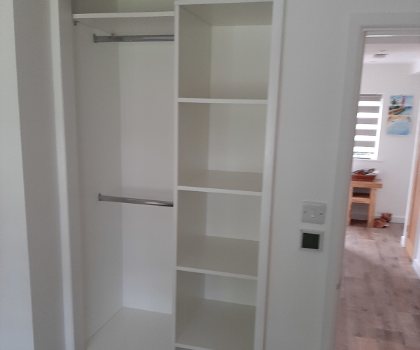 Small Wardrobe Interior With Shelves